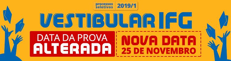 Alteração da data do Vestibular 2019/1