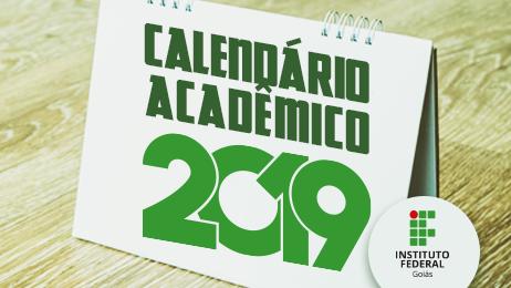 banner do calendário acadêmico 2019