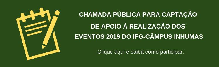Banner Edital de Apoio