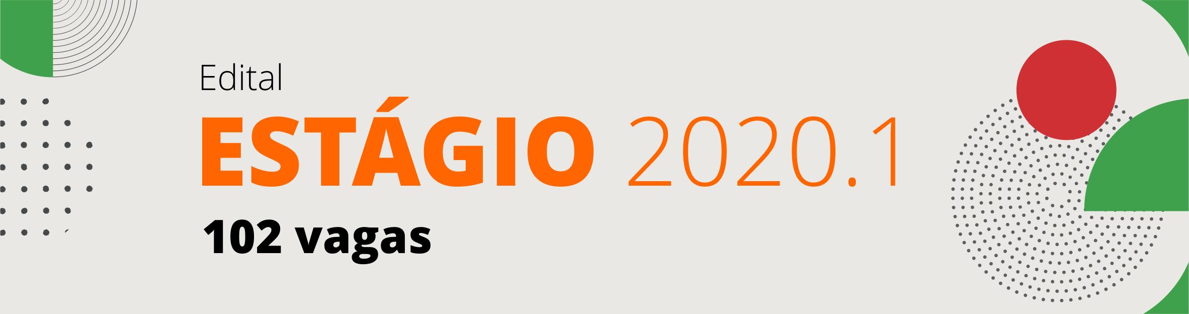 Banner estagio 2020.1 Campus Goiania