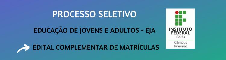 Edital Matrículas 2020-1 EJA
