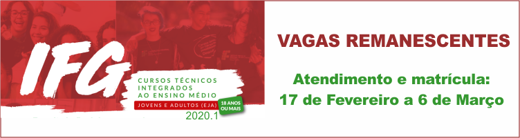 EJA 2020/1 - Vagas Remanescentes