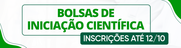 Banner Editais de Iniciação Científica