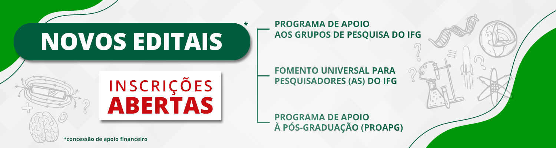 IFG concede recursos para grupos de pesquisa, propostas de pesquisadores e apoio à pós-graduação