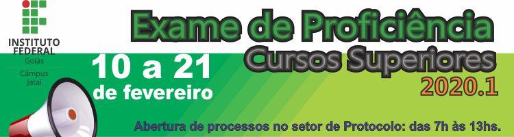 Edital n.º 001/2020 - Exame de Proficiência - 2020-1