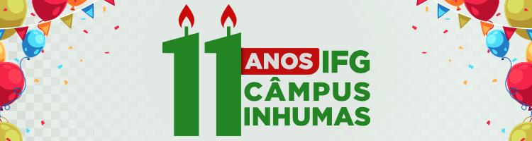 Banner 11 anos do Câmpus Inhumas