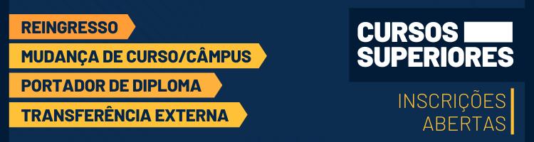 Portador de diploma, reingresso, transferência externa e mudança de curso