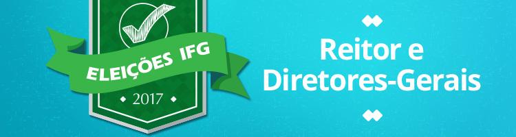 Banner- eleições para os cargos de reitor e diretor-geral de 10 câmpus