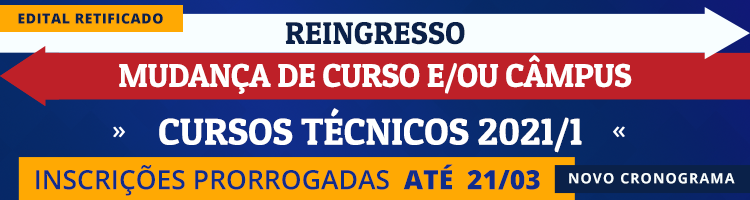Reingresso CURSOS TÉCNICOS
