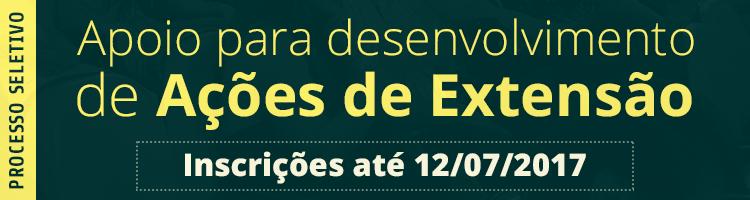 Apoio financeiro ações de extensão