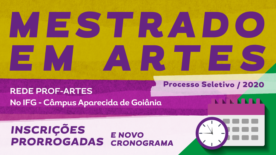 Cronograma do Prof-Artes é alterado