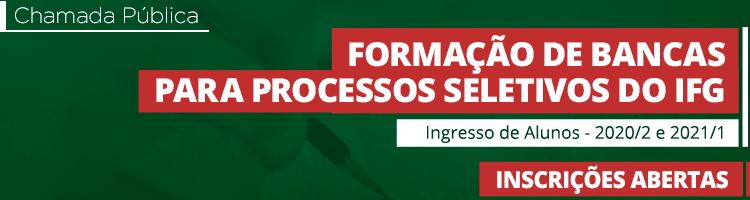 Formação de bancas para processos seletivos do IFG