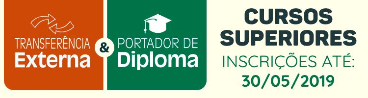 Portador de Diploma e Transferências 2019/2